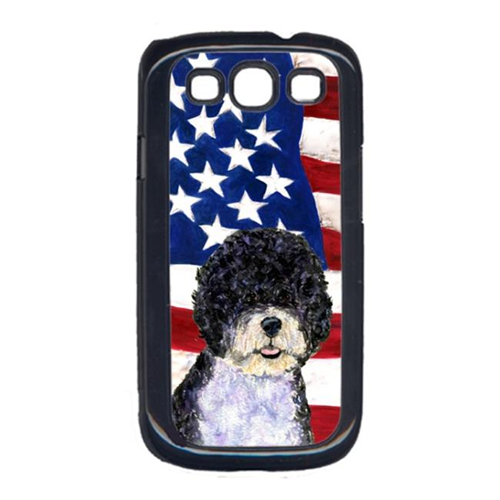 Carolines Treasures SS4053GALAXYS3 USA American Flag with Portuguese Water Dog Cell Phone Cover GALAXY S111