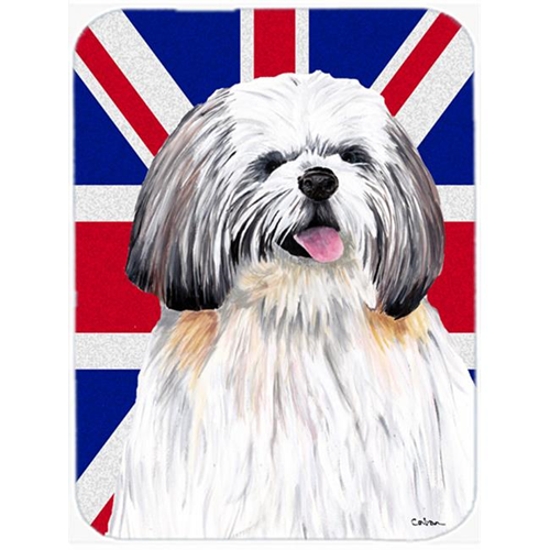 Carolines Treasures SC9840MP 7.75 x 9.25 In. Shih Tzu With English Union Jack British Flag Mouse Pad Hot Pad Or Trivet