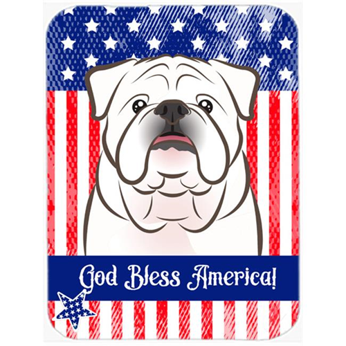Carolines Treasures BB2150MP White English Bulldog Mouse Pad Hot Pad or Trivet