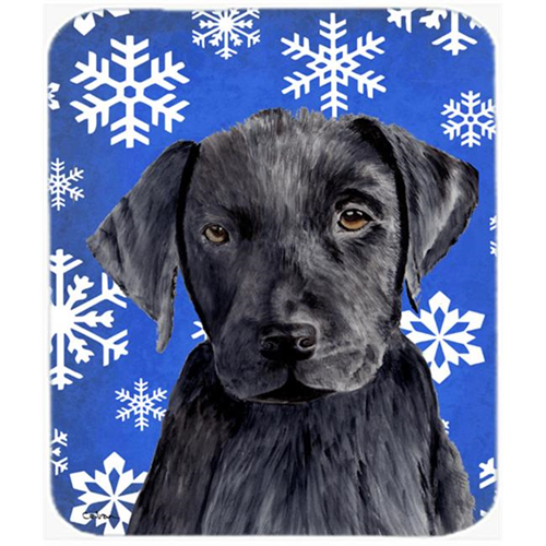Carolines Treasures SC9364MP Labrador Winter Snowflakes Holiday Mouse Pad Hot Pad or Trivet