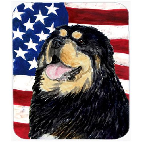 Carolines Treasures SS4039MP Usa American Flag With Tibetan Mastiff Mouse Pad Hot Pad Or Trivet