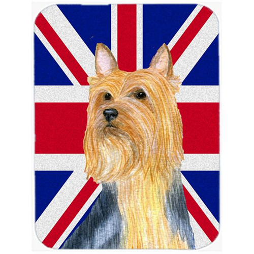 Carolines Treasures LH9468MP 7.75 x 9.25 In. Silky Terrier With English Union Jack British Flag Mouse Pad Hot Pad Or Trivet