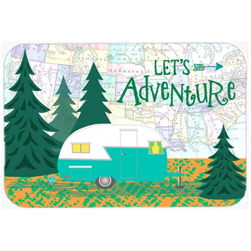 Carolines Treasures VHA3003MP Lets Adventure Glamping Trailer Mouse Pad Hot Pad or Trivet