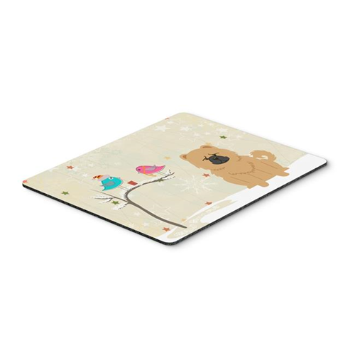 Carolines Treasures BB2616MP Christmas Presents Between Friends Chow Chow Cream Mouse Pad Hot Pad or Trivet