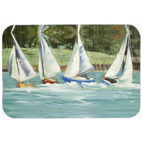 Carolines Treasures JMK1035MP Sailboats On The Bay Mouse Pad Hot Pad & Trivet
