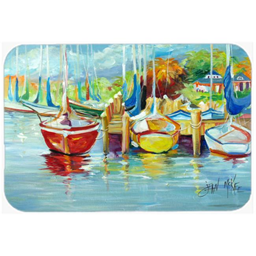 Carolines Treasures JMK1070MP On The Dock Sailboats Mouse Pad Hot Pad & Trivet