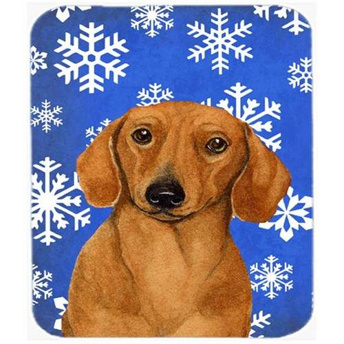 Carolines Treasures LH9267MP Dachshund Winter Snowflakes Holiday Mouse Pad Hot Pad Or Trivet