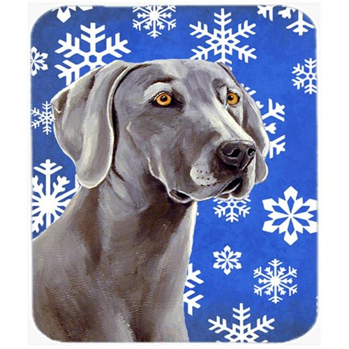Carolines Treasures LH9296MP Weimaraner Winter Snowflakes Holiday Mouse Pad Hot Pad Or Trivet