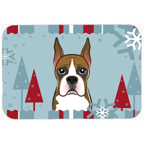 Carolines Treasures BB1719MP Winter Holiday Boxer Mouse Pad Hot Pad & Trivet