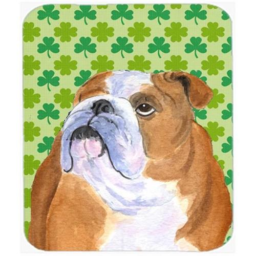Carolines Treasures SS4422MP Bulldog English St. Patricks Day Shamrock Mouse Pad Hot Pad Or Trivet