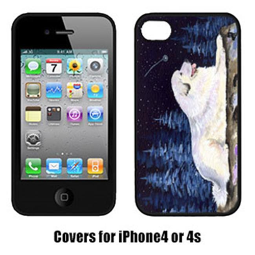 Carolines Treasures SS8438IP4 Starry Night Great Pyrenees Cell Phone Cover Iphone 4