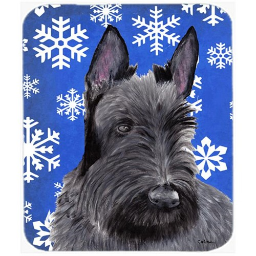 Carolines Treasures SC9386MP Scottish Terrier Winter Snowflakes Holiday Mouse Pad Hot Pad Or Trivet