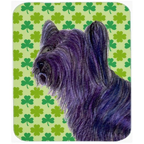 Carolines Treasures SS4394MP Skye Terrier St. Patricks Day Shamrock Portrait Mouse Pad Hot Pad Or Trivet