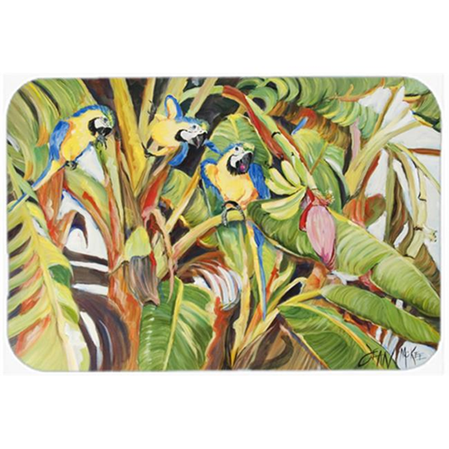 Carolines Treasures JMK1010MP Three Blue Parrots Mouse Pad Hot Pad & Trivet