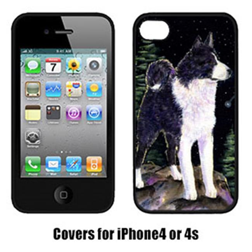 Carolines Treasures SS8483IP4 Starry Night Karelian Bear Dog Cell Phone Cover Iphone 4