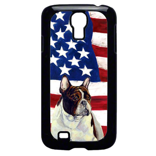 Carolines Treasures LH9006GALAXYS4 USA American Flag with French Bulldog Cell Phone Cover GALAXY S4