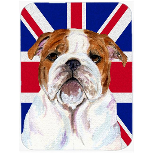 Carolines Treasures SS4926MP 7.75 x 9.25 In. English Bulldog With English Union Jack British Flag Mouse Pad Hot Pad Or Trivet