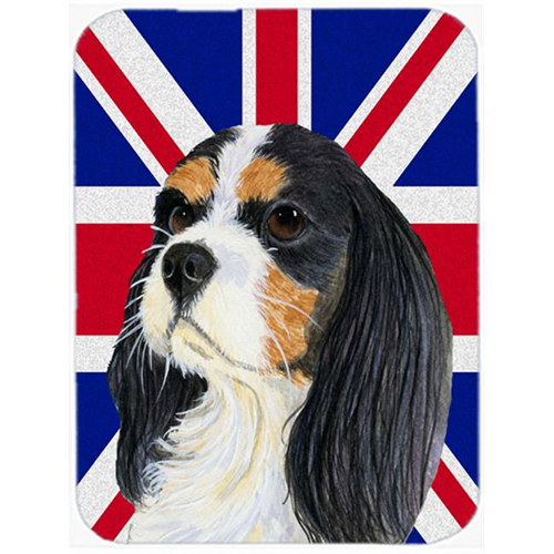 Carolines Treasures LH9476MP 7.75 x 9.25 In. Cavalier Spaniel With English Union Jack British Flag Mouse Pad Hot Pad Or Trivet