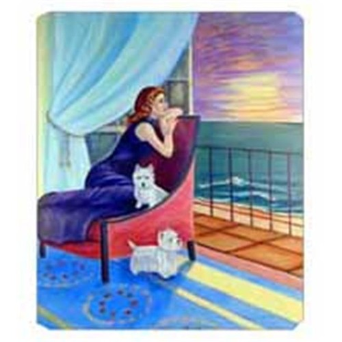Carolines Treasures 7167MP 8 x 9.5 in. Lady with her Westie Mouse Pad Hot Pad Or Trivet