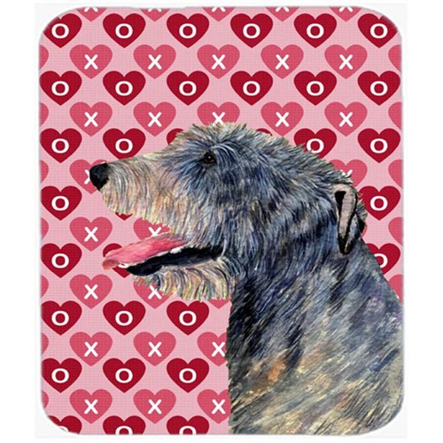 Carolines Treasures SS4506MP Irish Wolfhound Hearts Love And Valentines Day Mouse Pad Hot Pad Or Trivet