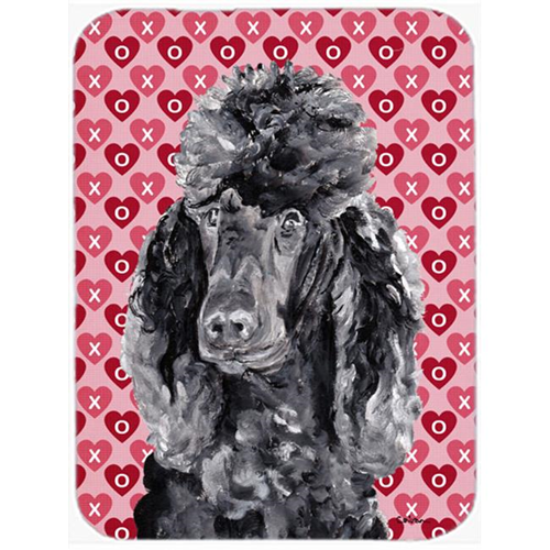 Carolines Treasures SC9698MP Black Standard Poodle Hearts And Love Mouse Pad Hot Pad Or Trivet 7.75 x 9.25 In.