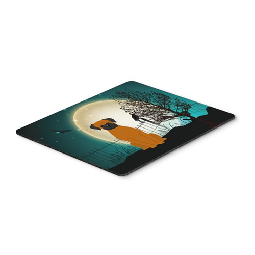 Carolines Treasures BB2305MP Halloween Scary Fawn Boxer Mouse Pad Hot Pad or Trivet