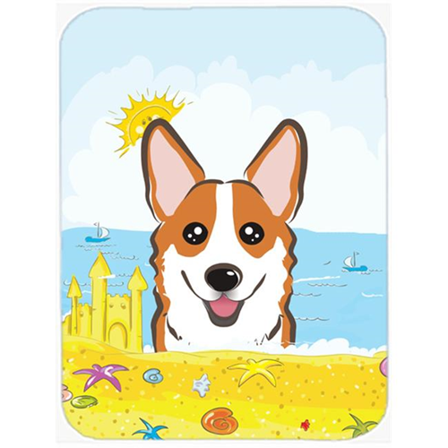 Carolines Treasures BB2122MP Red Corgi Summer Beach Mouse Pad Hot Pad or Trivet