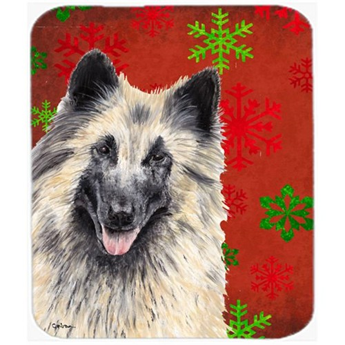 Carolines Treasures SC9432MP Belgian Tervuren Red And Green Snowflakes Christmas Mouse Pad Hot Pad Trivet