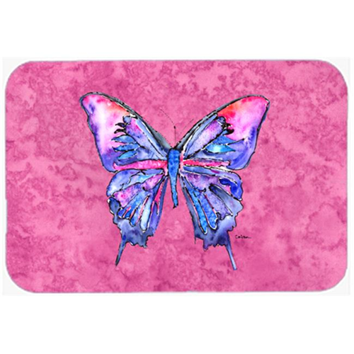 Carolines Treasures 8859MP Butterfly on Pink Mouse Pad Hot Pad or Trivet