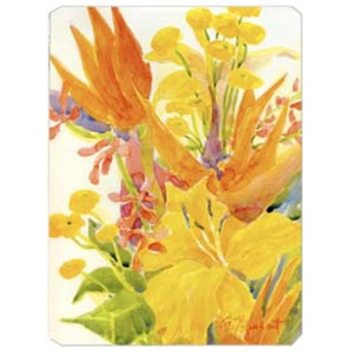 Carolines Treasures 6015MP 9.5 x 8 in. Flower - Bird of Paradise and Hibiscus Mouse Pad Hot Pad Or Trivet