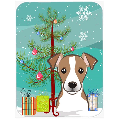 Carolines Treasures BB1632MP Christmas Tree And Jack Russell Terrier Mouse Pad Hot Pad & Trivet