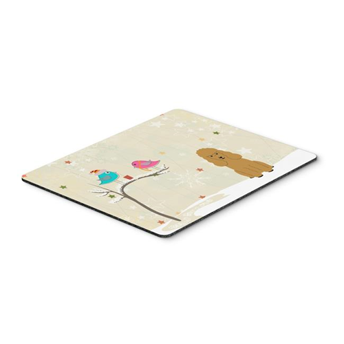 Carolines Treasures BB2541MP Christmas Presents Between Friends Poodle Tan Mouse Pad Hot Pad or Trivet