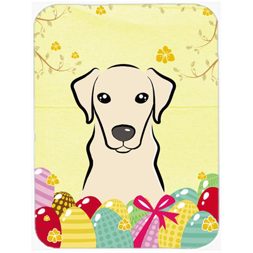 Carolines Treasures BB1904MP Yellow Labrador Easter Egg Hunt Mouse Pad Hot Pad or Trivet
