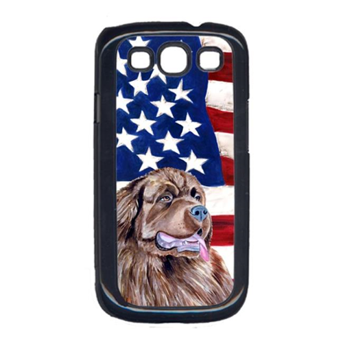 Carolines Treasures LH9024GALAXYS3 USA American Flag with Newfoundland Cell Phone Cover GALAXY S111