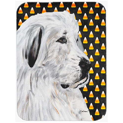 Carolines Treasures SC9666MP Great Pyrenees Candy Corn Halloween Mouse Pad Hot Pad Or Trivet 7.75 x 9.25 In.