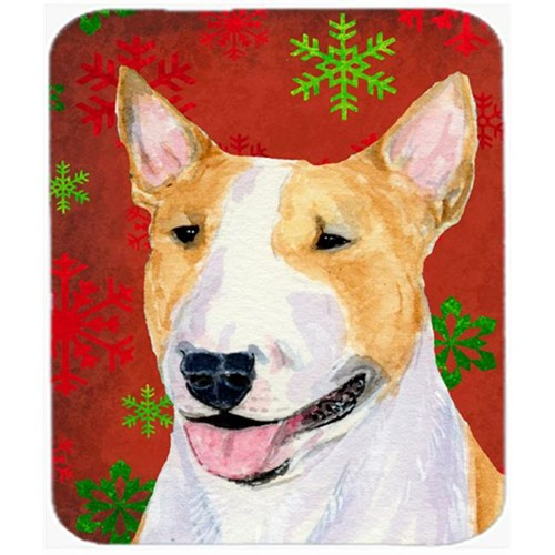 Carolines Treasures SS4703MP Bull Terrier Snowflakes Holiday Christmas Mouse Pad Hot Pad or Trivet