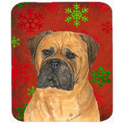 Carolines Treasures SS4724MP Bullmastiff Snowflakes Holiday Christmas Mouse Pad Hot Pad or Trivet