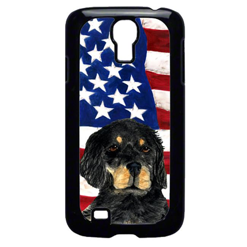 Carolines Treasures SS4042GALAXYS4 USA American Flag With Gordon Setter Galaxy S4 Cell Phone Cover