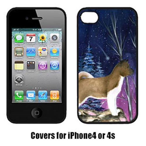 Carolines Treasures SS8352IP4 Starry Night Akita Cell Phone cover IPhone 4