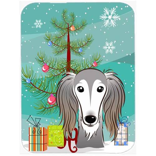 Carolines Treasures BB1601MP Christmas Tree And Saluki Mouse Pad Hot Pad & Trivet