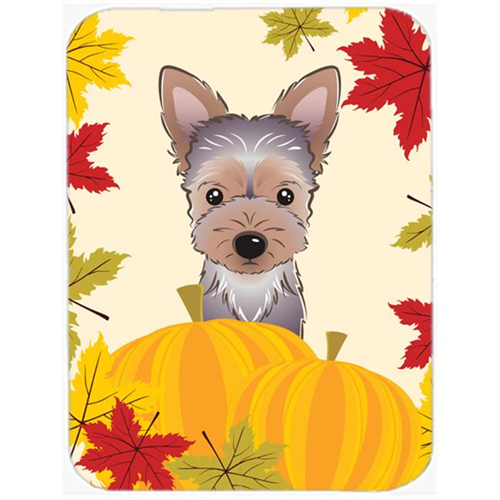 Carolines Treasures BB2038MP Yorkie Puppy Thanksgiving Mouse Pad Hot Pad or Trivet