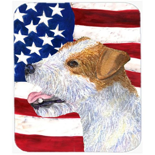 Carolines Treasures SS4031MP Usa American Flag With Jack Russell Terrier Mouse Pad Hot Pad Or Trivet
