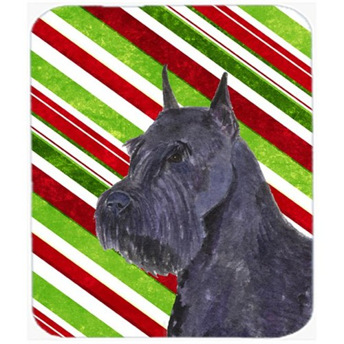 Carolines Treasures SS4592MP Schnauzer Candy Cane Holiday Christmas Mouse Pad Hot Pad Or Trivet