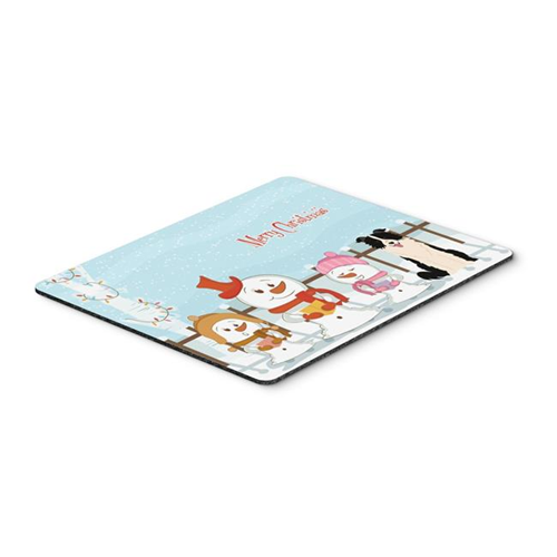 Carolines Treasures BB2449MP Merry Christmas Carolers Border Collie Black & White Mouse Pad Hot Pad or Trivet