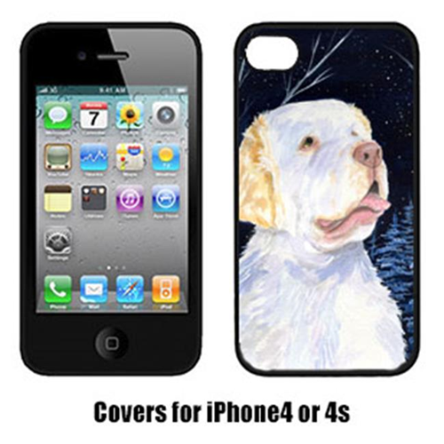 Carolines Treasures SS8356IP4 Starry Night Clumber Spaniel Cell Phone cover IPhone 4