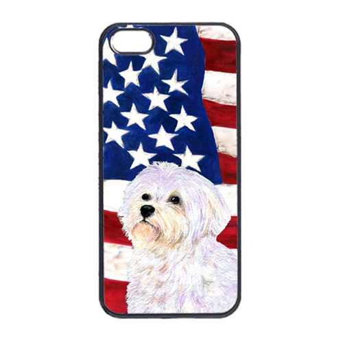 Carolines Treasures SS4043IP4 USA American Flag With Maltese Iphone 4 Cover