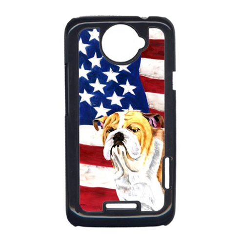 Carolines Treasures SC9002HTCONE USA American Flag With Bulldog English HTC One X Cell Phone Cover