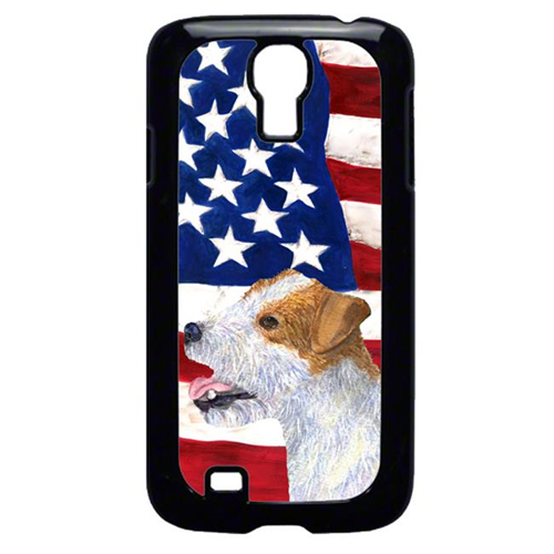 Carolines Treasures SS4031GALAXYS4 USA American Flag with Jack Russell Terrier Cell Phone Cover GALAXY S4