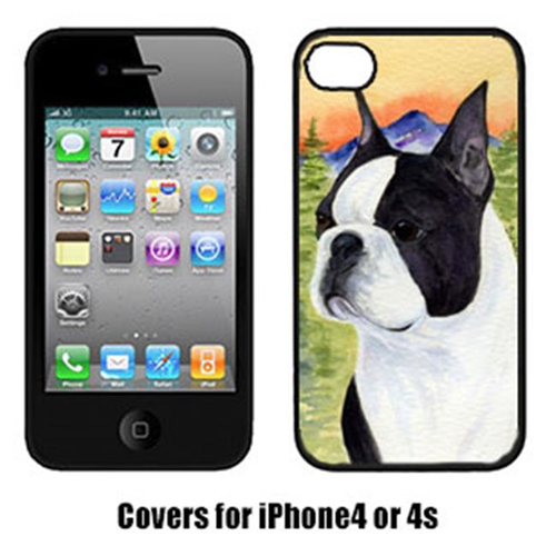 Carolines Treasures SS8187IP4 Boston Terrier Cell Phone cover IPhone 4