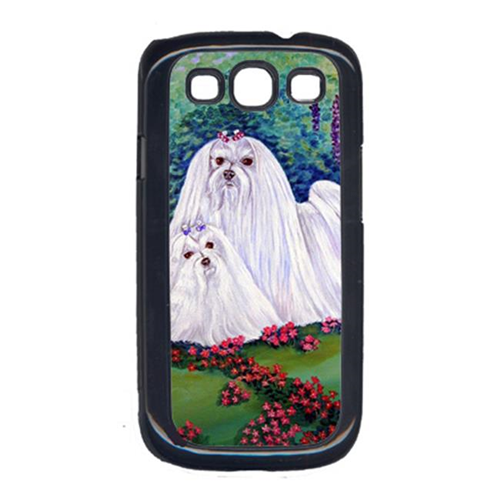 Carolines Treasures 7104GALAXYSIII Maltese And Puppy Garden Beauties Cell Phone Cover Galaxy S111